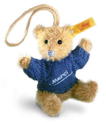 Merci Teddy Pendant Bear EAN 028243 by by Steiff<br>