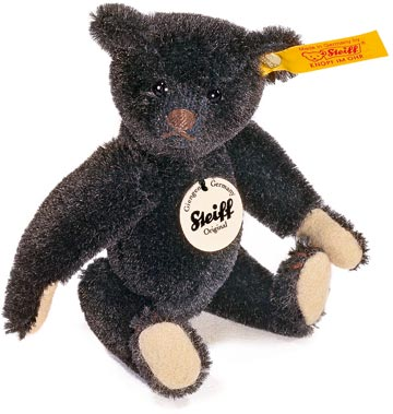 Black Mohair Teddy Bear 1908 EAN 039454 by by Steiff<br>