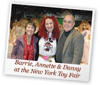 Danny, Barrie and Annette Himstedt at Toy Fair
