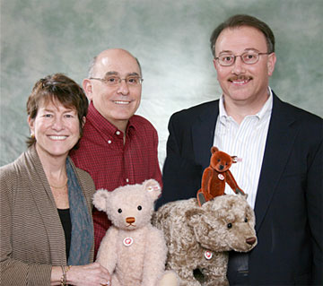 Danny and Barrie Shapiro of The Toy Shoppe with Jim Pitocco, President of Steiff USA